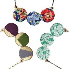 Handmade Button Necklaces.