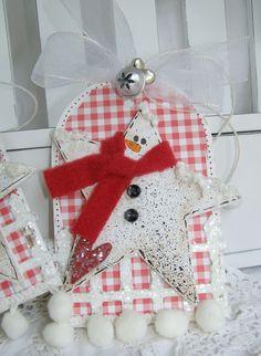 Cute star snowman tag, annettes paper bistro