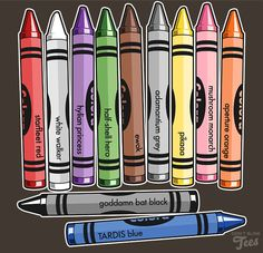 Color Me Nerdy - My kids would never use any other kind of crayon...