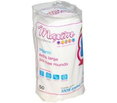 Maxim Hygiene Products XL Cotton Rounds Organic - 50 ea  Maxim Hygiene provides a comprehensive line of organic and natural cotton products to keep you Soft, Save and Natural. Chlorine Free - No chlorine bleaching keeps carcinogens away from your most intimate body parts. Extra Soft - Cotton fibers are gentler by nature. Biodegradable - Decomposes easily for less waste.