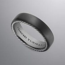 david yurman mens streamline ring 6mm black titaniumsterling silver6mmstore - David Yurman Mens Wedding Rings
