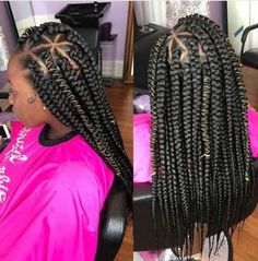 Top 60 All the Rage Looks with Long Box Braids - Hairstyles Trends Box Braids Hairstyles, My Hairstyle, Girl Hairstyles, School Hairstyles, Trendy Hairstyles, Short Box Braids, Blonde Box Braids, Big Braids, Braids For Kids