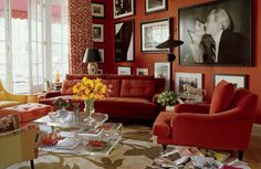 Dramatic Red Rooms