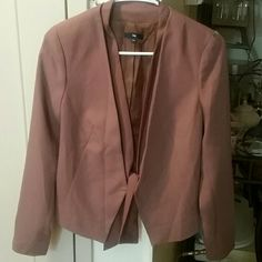 GAP Front Tie Mocha Colored Blazer Perfect condition! 100% Polyester GAP Jackets & Coats Blazers