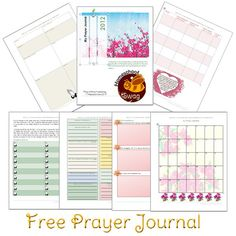 Free Prayer Journal Notebook Pages