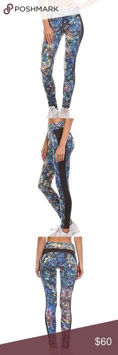 Electric yoga sport leggings Printed active full length  multicolored leggings. Electric Yoga Pants Leggings