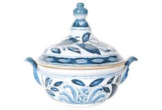 Lidded Blue & White Ceramic Pot on OneKingsLane.com