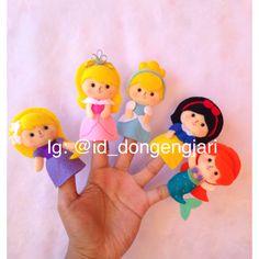 Felt finger puppet: Disney Princesses  Check my instagram: @id_dongengjari