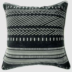 "EU31 -Black White Arrow Line Specialist Velvet Style Sofa Pillow Cases /Cushion Covers18""x18"" / 45cm X 45cm. $11.49, via Etsy."