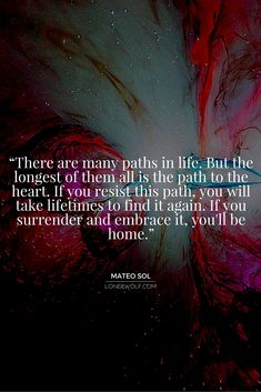 The Path from the Head/Mind to the Heart ༺♡༻