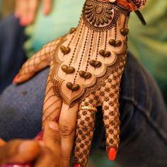 Bridal Heart Henna/Mehndi Design on Hands