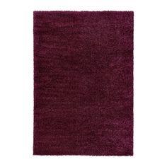 ÅDUM Teppich Langflor, lila lila 133x195 cm