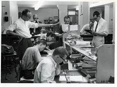 The Tribune newsroom, 1959.
