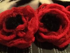 My knitted poppies