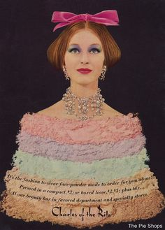 It's the fashion to wear face powder made to order for you alone! #vintage #makeup #cosmetics #powder #1960s #pastel