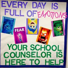 Counseling Bulletin Boards, School Counselor, Sad