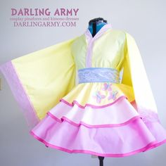 Fluttershy MLP My Little Pony Cosplay Kimono Dress Wa Lolita Accessory Lolita Cosplay, Cosplay Dress, Cosplay Outfits, Cosplay Costumes, Kawaii Fashion, Lolita Fashion, Kimono Dress, Dress Up, Kimono Fashion
