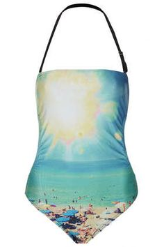 BLUE SUNSHINE BEACH SWIMSUIT