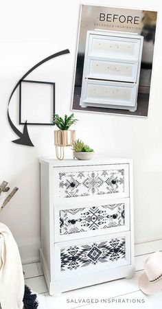 Before and After Folk 1 Side Table Makeover Furniture Rehab, Side Table Makeover, Furniture Makeover, Painted Furniture, Refurbished Furniture, Painted Furniture For Sale, Diy Decor, Home Decor, Table Makeover