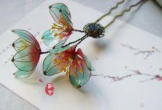 Oriental Vintage style Plum blossom hair by Numerousflowerfall