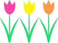 Three Tulips Clip Art Free clip art of three spring tulips Tulips Images, Flower Images, Flower Art, Flower Clipart, When To Plant Tulips, Silhouette Clip Art, Leaf Drawing, Spring Activities, Flowers