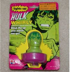 Vintage Incredible Hulk Whirly Multi-Prism Special Effects Lens toy 1980 1599