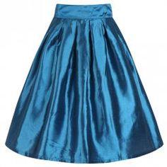 'Marnie' Blue Circle Skirt