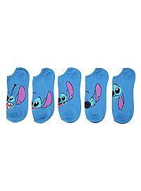 HOTTOPIC.COM - Disney Lilo & Stitch Faces No-Show Socks 5 Pair