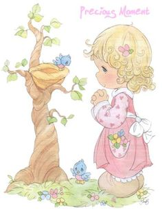 Licena Hill: Precious Moments vol 2 Precious Moments Quotes, Precious Moments Coloring Pages, Precious Moments Figurines, Sarah Kay, Cute Images, Cute Pictures, Holly Hobbie, My Precious, Illustrations