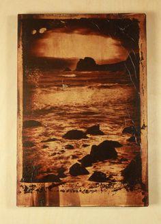 Polaroid transfer onto wood