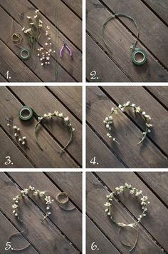 oh!myWedding: 10 Coronas de flores DIY this page link shows lots of wreath options!