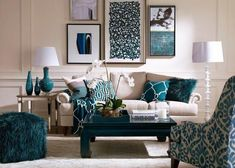 Kombinasi Warna Cat Ruang Tamu Modern Dan Furniture Living Room Decor Teal Pea