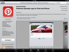 This app makes uploading from your iPad a snap. As I just did :)