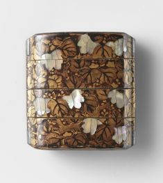 Inro, bladeren, anoniem, 1700 - 1800