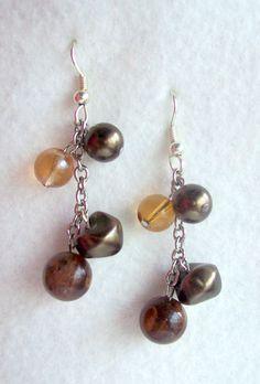 Handmade jewelry handmade beaded jewelry Brown by MadeByTheHearth, $9.00
