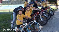 Mahora Primary School Kids riding bikes in the Bikes In Schools Program in New Zealand. Kids riding bikes at school does more than just teach them to ride.