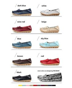 9 Color Genuine Cow Leather Shoes Footwear