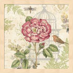 Pamela Gladding 'Floral Nature Trail IV' Framed Art