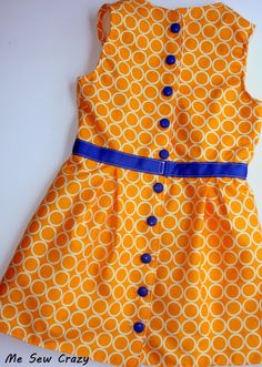 Patron Gratuit Robe Jackie Retro pour Fille, Free Pattern and Tutorial Jackie Dress for Girl