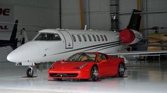 Ferrari 458 Italia with a Learjet 45 Porsche, Audi, Bmw, Bugatti Veyron, Mercedes Benz, Koenigsegg, Ferrari 458, Sport Cars, Luxury Cars
