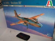 New Italeri 2656 A-20B Boston 111 Model Kit in Larger 1:48 Scale.