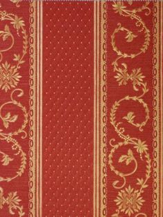 Ornamenta Barock Tapete Streifen Rot Gold  Stoff Optik   Euro Pro M C B Ebay