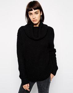 Dr Denim Roll Neck Sweater