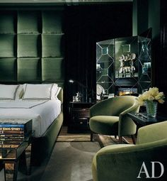 Rooms with Art Deco Inspirations: Interiors + Inspiration by Architectural Digest