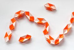 Make a geometric origami garland | How About Orange