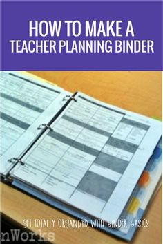 Seriously - the best thing I've done... ever. How to Make a Teacher Planning Binder {Binder Basics}