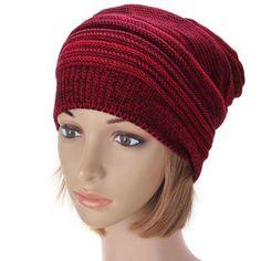 Women Winter Warm Oversized Slouch Cap Baggy Beanie Knit Crochet Ski Hat