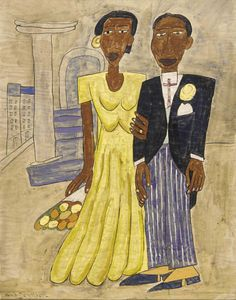 Wedding Couple by William H. Johnson / American Art William H. JohnsonMore Pins Like This At FOSTERGINGER @ Pinterest