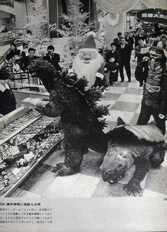Even Godzilla and friends go out for that last minute Christmas gift!