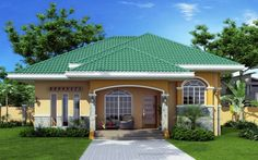 Elevated Bungalow house plan is Marcela model with 3 bedrooms and 3 bathrooms. This house plan is design not to have an attached garage, so you are free to put the garage somewhere within your lot. Unique House Plans, Unique House Design, Dream House Plans, 3 Storey House Design, One Storey House, Bungalow Haus Design, Modern Bungalow House, Philippines House Design, Bungalow Floor Plans